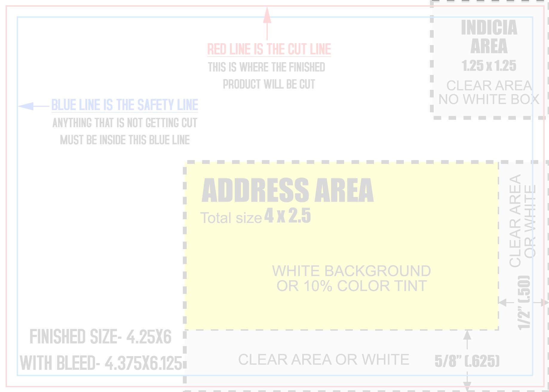 Mailing Print Templates | 4.25\