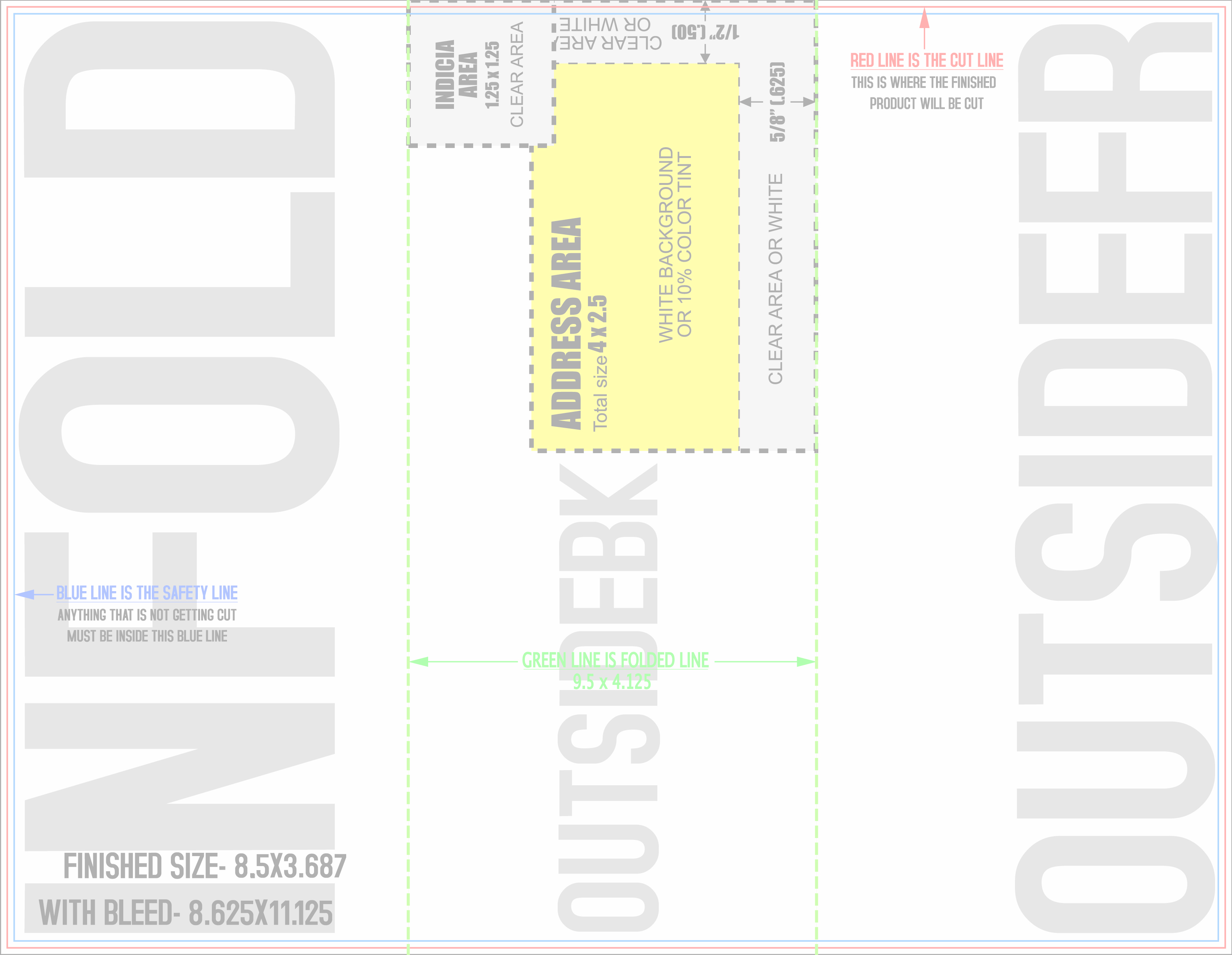 85x11 mailing template photoshop file