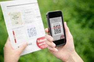 scanning QR code off of paper