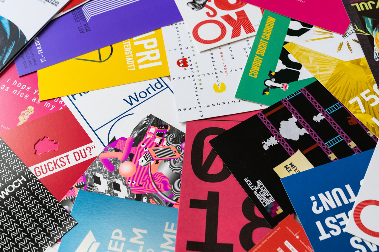 colorful postcards